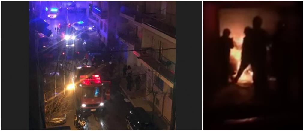 Έκρηξη και φωτιά σε γκαράζ πολυκατοικίας (βίντεο)