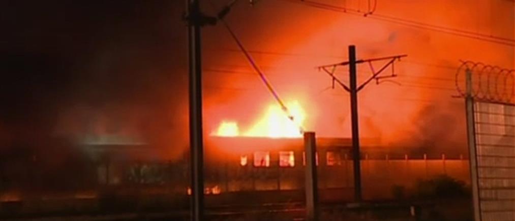 Θεσσαλονίκη: Φωτιά σε βαγόνια στο αμαξοστάσιο του ΟΣΕ (εικόνες)