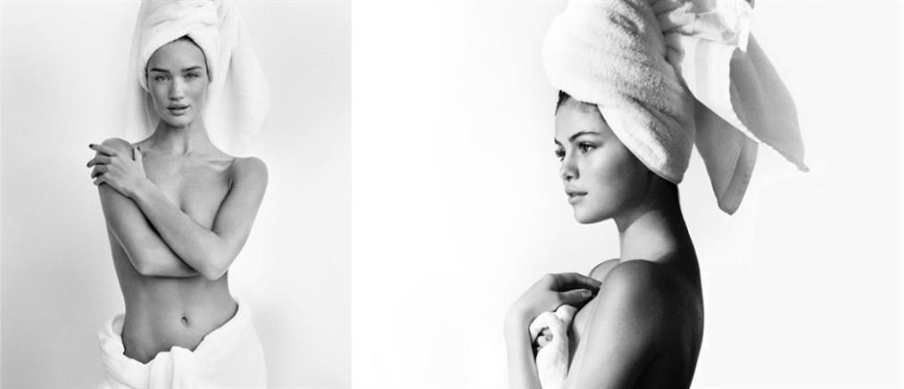 Η Rosie Huntington Whiteley γυμνή με μόνο μία πετσέτα!