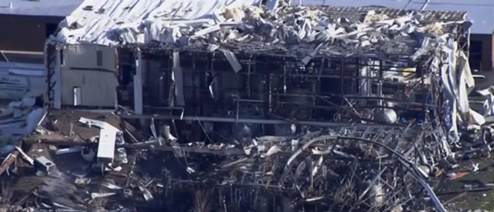 """Ισχυρή έκρηξη """"ισοπέδωσε"""" εργοστάσιο (βίντεο)"""