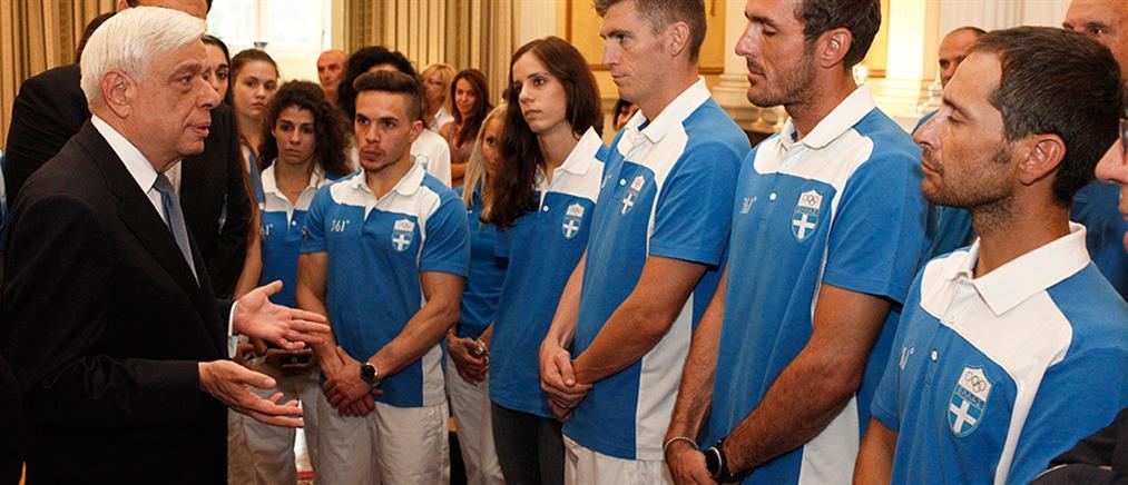 Παυλόπουλος σε Ολυμπιονίκες: Μας κάνατε όλους υπερήφανους