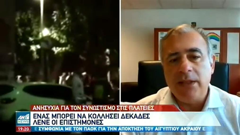 Κορονοϊός: Ανησυχία για τον συνωστισμό στις πλατείες της Αττικής