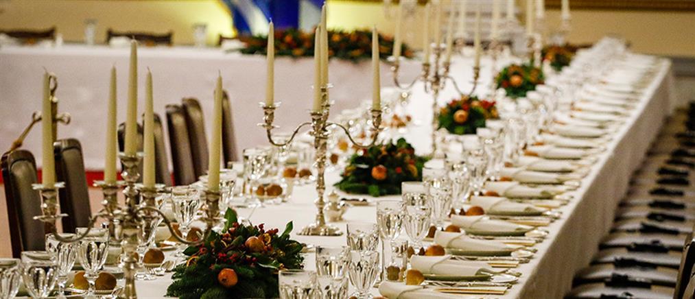 Το μενού του επίσημου δείπνου στο Προεδρικό Μέγαρο