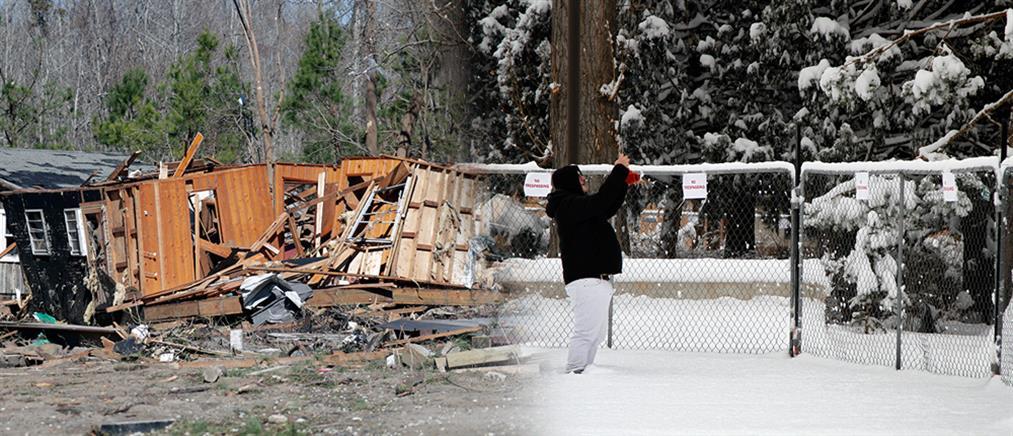 """Καταστροφική και """"πολυπρόσωπη"""" κακοκαιρία στις ΗΠΑ (εικόνες)"""