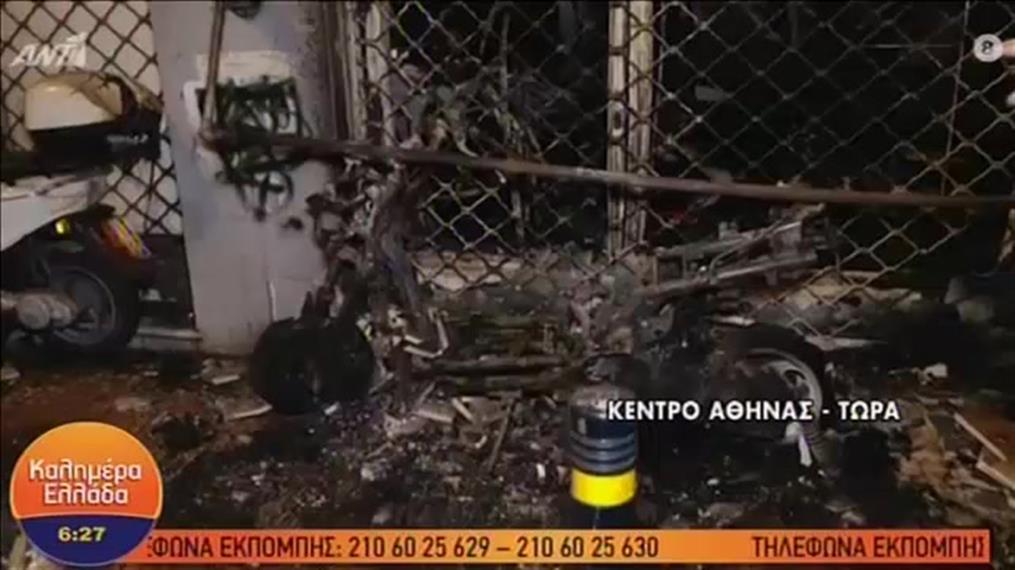 Φωτιά σε κατάστημα στο κέντρο της Αθήνας