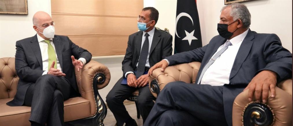 Δένδιας από Βεγγάζη: Είμαστε στη διάθεση της Λιβύης για συμφωνία στις θαλάσσιες ζώνες μας