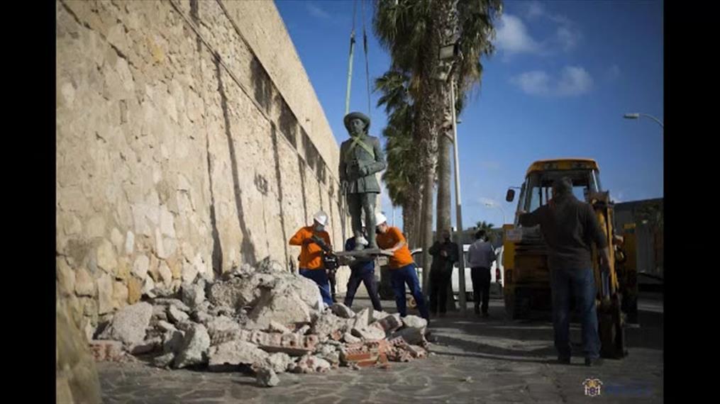 Ισπανία: Αφαιρέθηκε το τελευταίο άγαλμα του Φράνκο