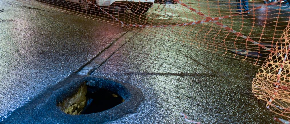 """""""Μπάλλος"""" – Χαλάνδρι: Καθίζηση στην Παπανικολή"""