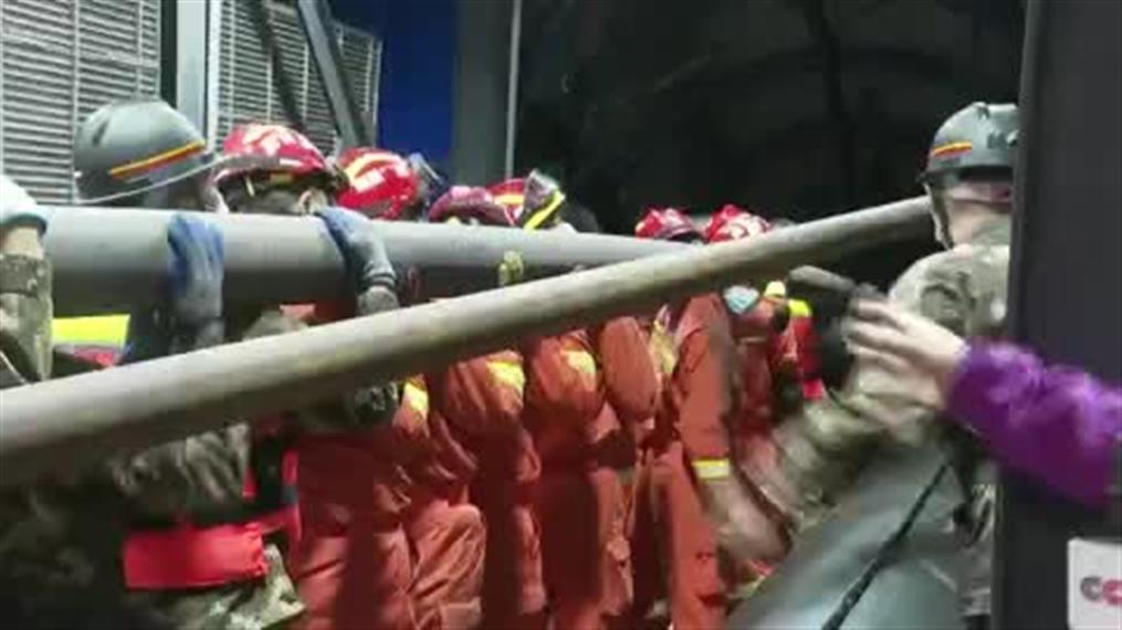 Εργάτες παγιδεύτηκαν μετά από κατάρρευση ορυχείου