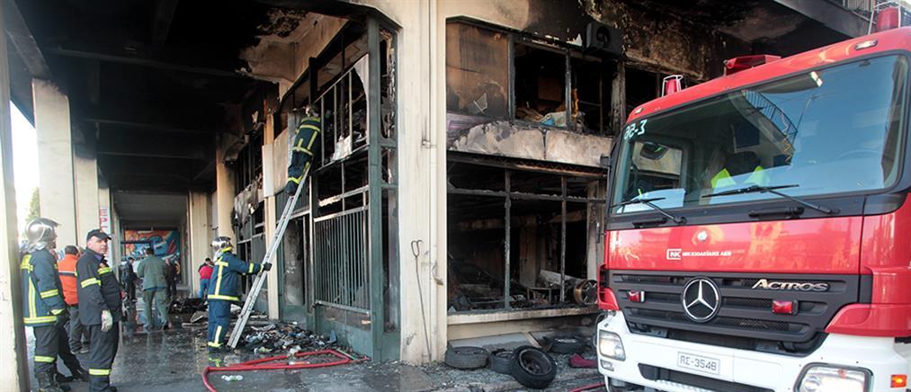 Φωτιά σε κατάστημα στον Βοτανικό  (Βίντεο)