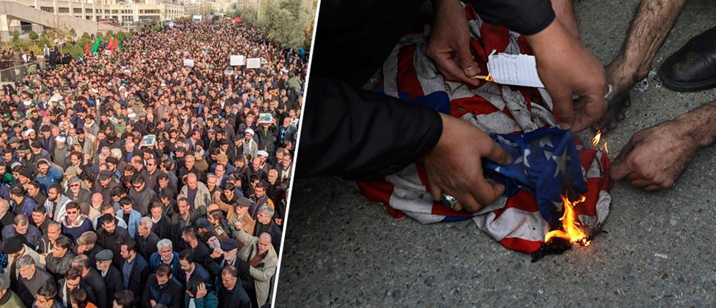 Ογκώδεις διαδηλώσεις στο Ιράν για τον Σουλεϊμανί (εικόνες)
