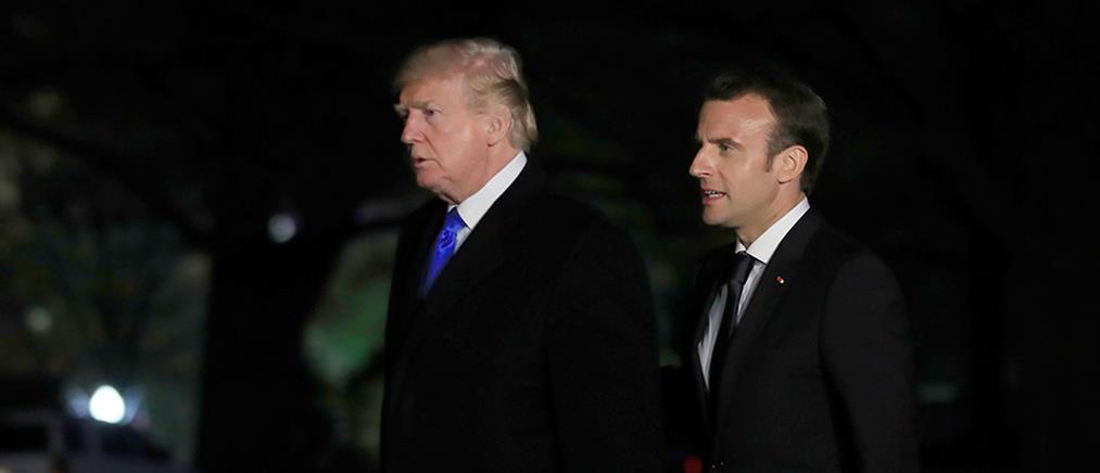 """Αντιπαράθεση Τραμπ – Μακρόν για τα """"μάτια"""" του Ιράν"""