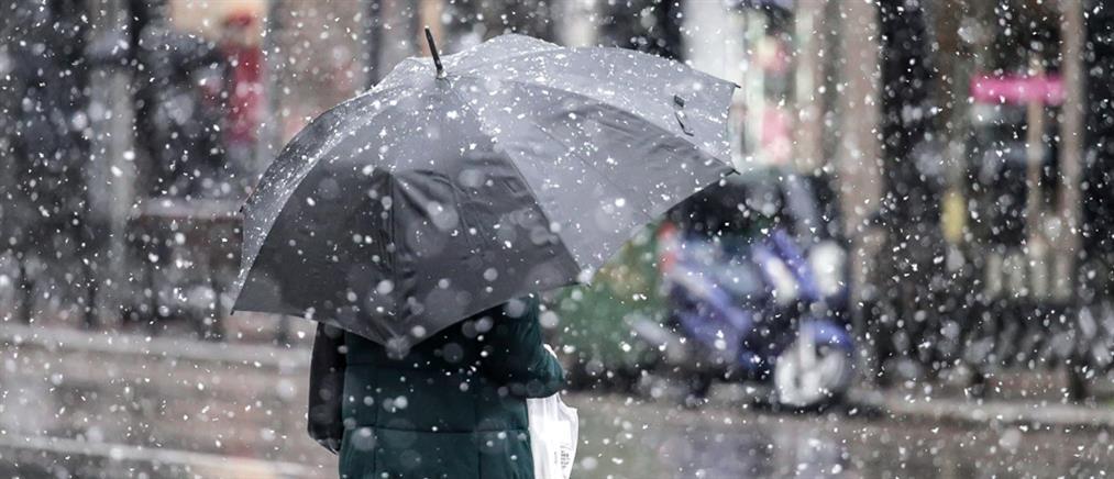 """""""Λέανδρος"""": χιόνια και στα πεδινά, κρύο και βοριάδες την Δευτέρα"""