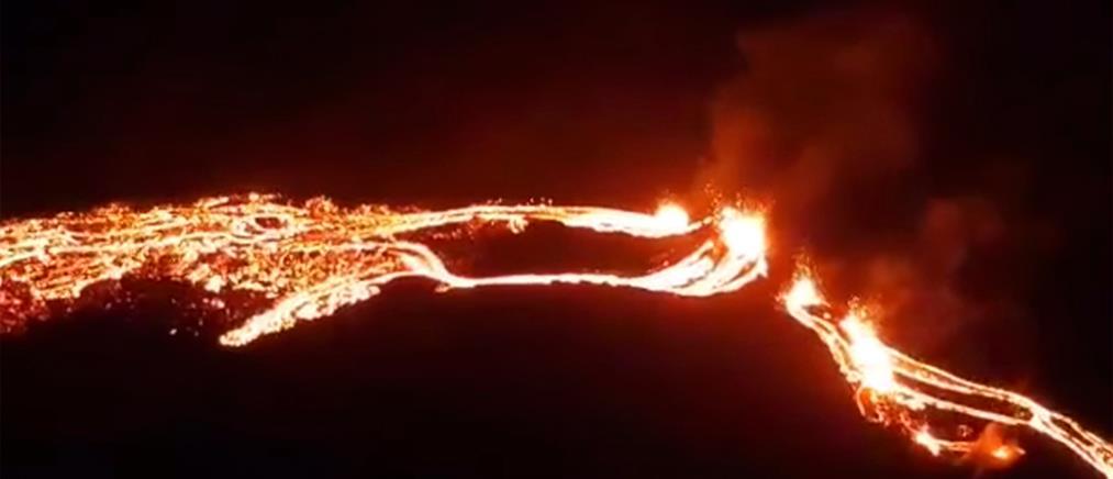Ισλανδία: Η λάβα από το ηφαίστειο κάνει τη νύχτα μέρα (βίντεο)