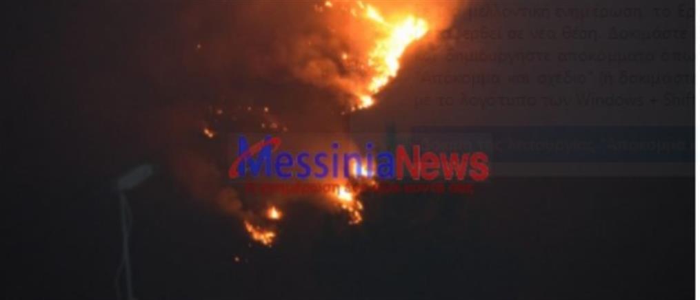 Φωτιά στη Μεσσηνία: Νέα πύρινα μέτωπα (εικόνες)