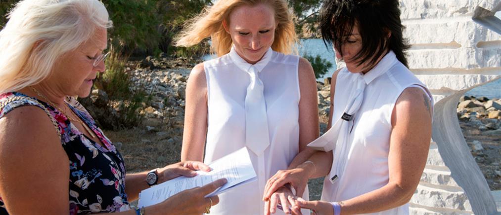 Στην Λέσβο ο πρώτος νόμιμος γάμος μεταξύ γυναικών (εικόνες)