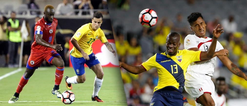 """Copa America: """"Ξέσπασε"""" η Βραζιλία, ισοπαλία για Εκουαδόρ και Περού"""