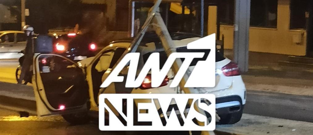 Τροχαίο ατύχημα στη Λεωφόρο Σπάτων (εικόνες)