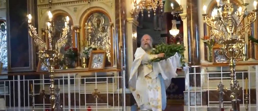 """Χίος: συνελήφθη ο """"ιπτάμενος ιερέας"""" μετά την """"εκκωφαντική"""" Πρώτη Ανάσταση (βίντεο)"""