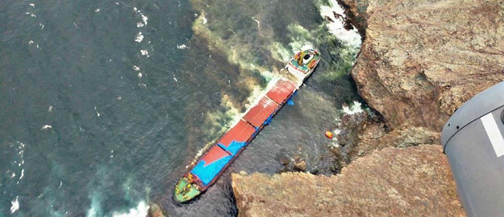 Ρύπανση από το ναυάγιο στο Τραγονήσι