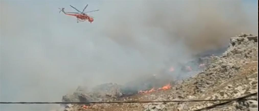 Φωτιά στο Ηράκλειο (βίντεο)