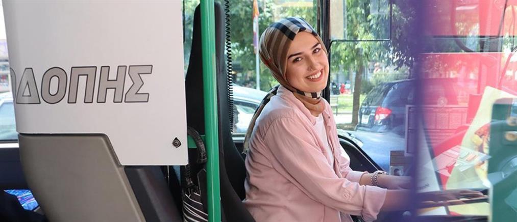 """Νεαρή μουσουλμάνα οδηγός ΚΤΕΛ """"τραβάει... χειρόφρενο"""" στα στερεότυπα (εικόνες)"""