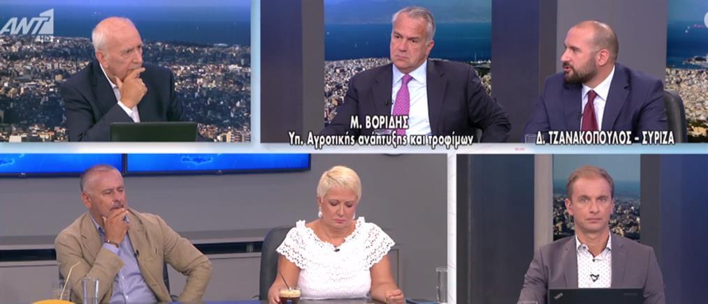 Βορίδης – Τζανακόπουλος στον ΑΝΤ1: αντιπαράθεση εφ' όλης της ύλης (βίντεο)