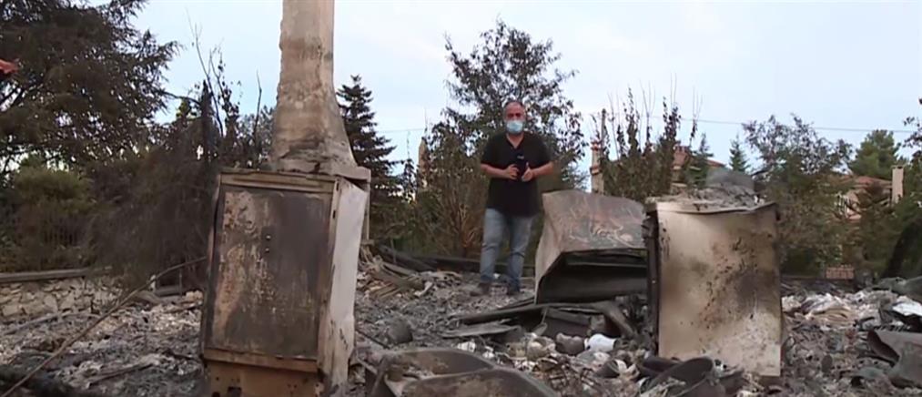Φωτιά στον Άγιο Στέφανο: Εικόνες καταστροφής (βίντεο)