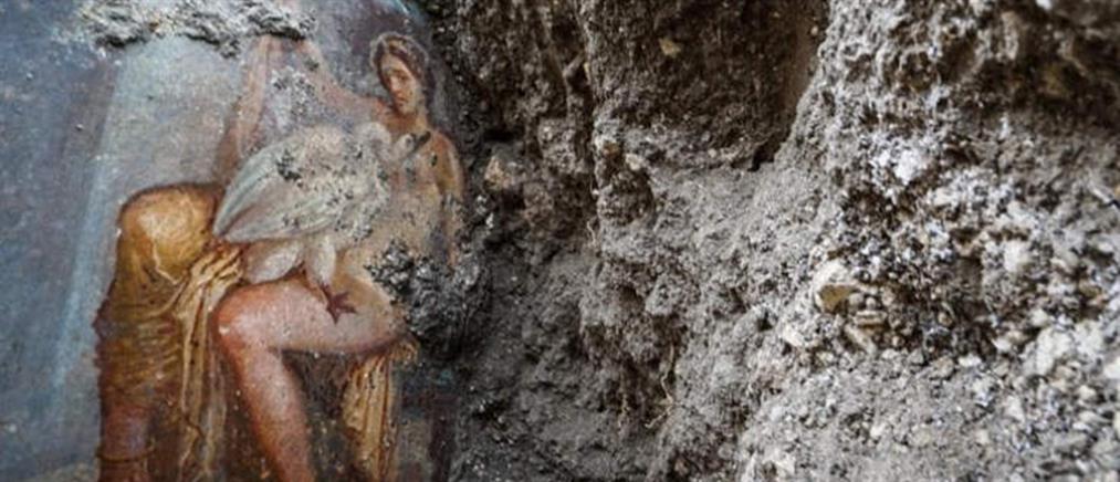 Μοναδική ανακάλυψη στην Πομπηία: Ερωτική αναπαράσταση του Δία και της Λήδας (εικόνες)