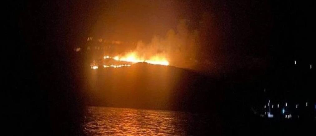 'Υδρα: Κεραυνός προκάλεσε φωτιά