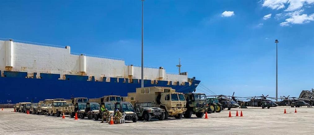 Αλεξανδρούπολη: αμερικανικές δυνάμεις έφτασαν στο λιμάνι (εικόνες)