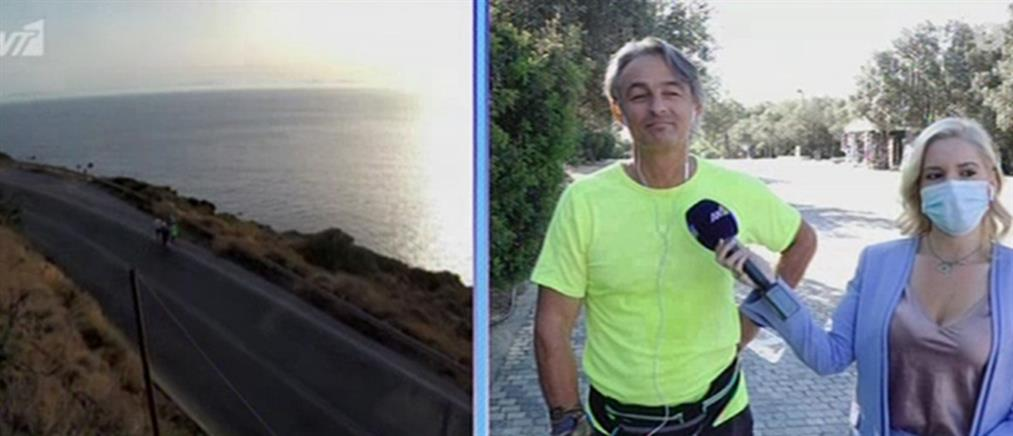 Ο Άγης Εμμανουήλ θα τρέξει Αθήνα - Γλασκώβη για την κλιματική αλλαγή (βίντεο)