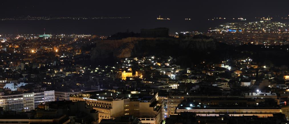 """""""Η Ώρα της Γης"""" στην Αθήνα: Σκοτάδι σε Ακρόπολη, Βουλή και Προεδρικό (εικόνες)"""