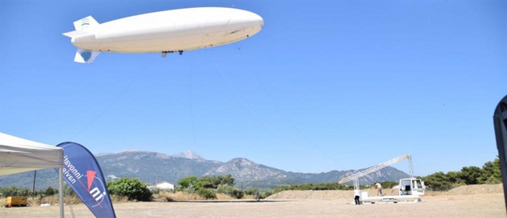 Ξεκίνησε τις δοκιμαστικές πτήσεις του στη Σάμο το Zeppelin (εικόνες)