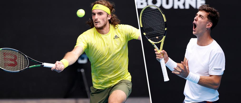 """Australian Open – Τσιτσιπάς: πήρε με ανατροπή τον """"εμφύλιο"""""""
