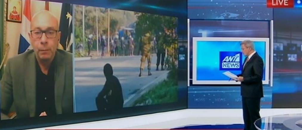 """Η """"απολογία"""" του Δημάρχου Ανατολικής Σάμου στον ΑΝΤ1 μετά τα επεισόδια στο νησί (βίντεο)"""