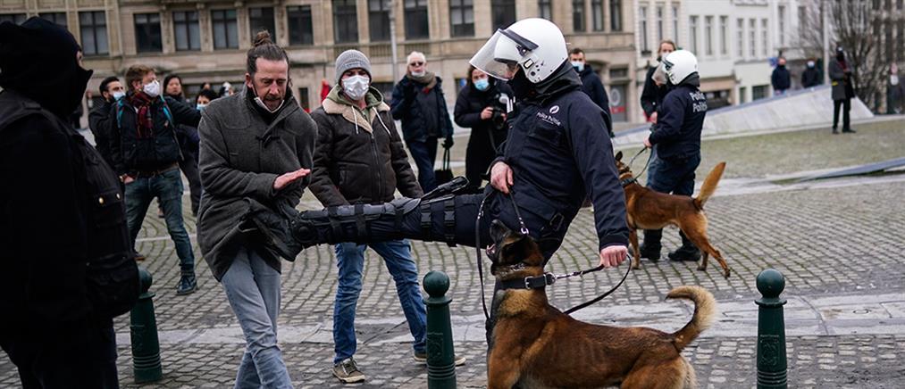 Κορονοϊός – Βέλγιο: Ένταση και συλλήψεις σε διαδήλωση κατά των μέτρων (εικόνες)