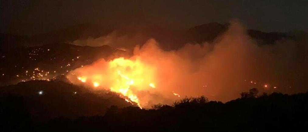 Φωτιά στο Λασίθι: Ολονύχτια μάχη με τις φλόγες