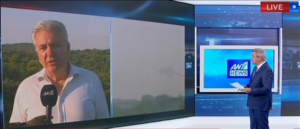 Λουκάς στον ΑΝΤ1: Από βολές της ΕΒΟ ξέσπασε η φωτιά στο Λαύριο (βίντεο)