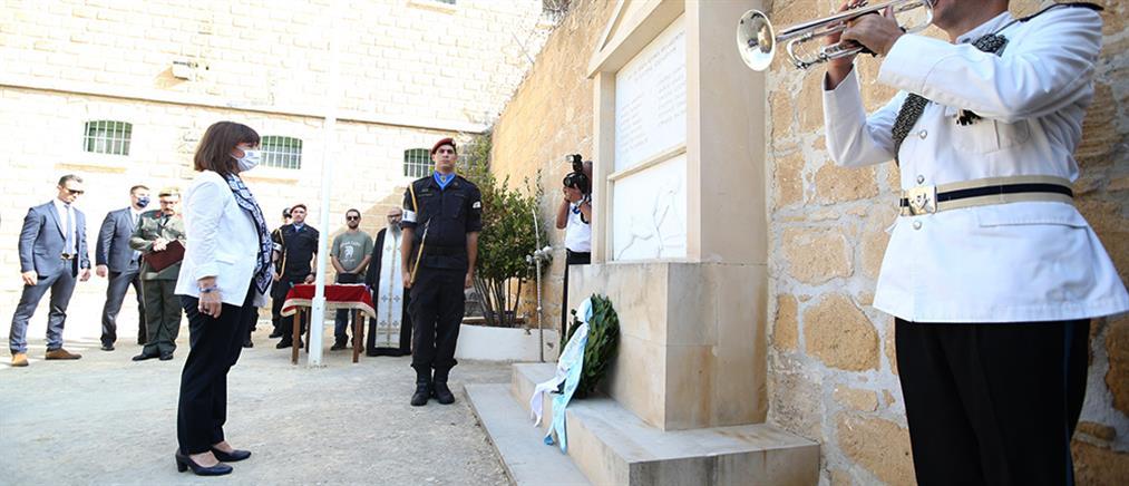 Σακελλαροπούλου από Κύπρο: να αγωνιστούμε για τον τερματισμό της τουρκικής κατοχής