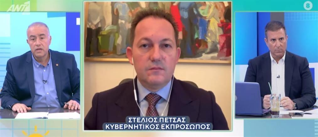 """Κορονοϊός - Πέτσας στον ΑΝΤ1: Έχουμε """"καύσιμα"""" για να στηρίξουμε την οικονομία"""