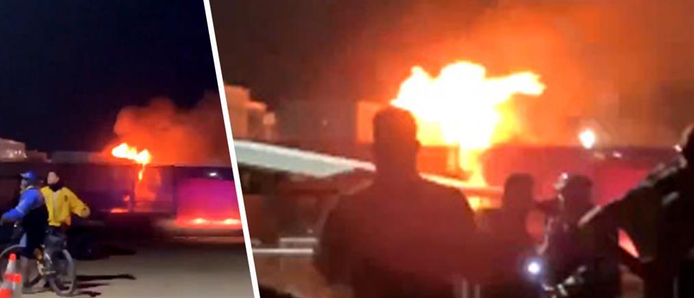 Πανικός από φωτιά στο Coachella (βίντεο)