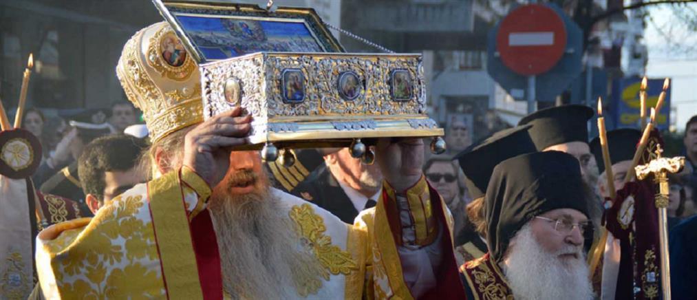 Η Αγία Ζώνη της Παναγίας στην Καλαμαριά (βίντεο)
