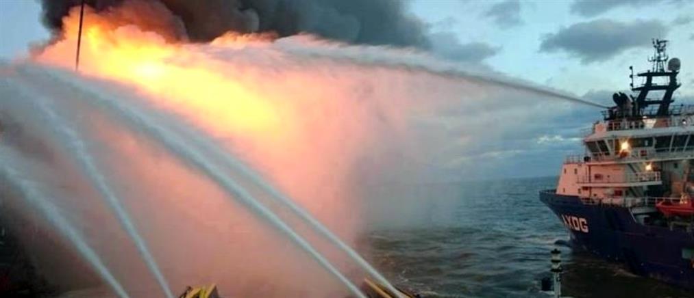 Πύρινη κόλαση σε πλατφόρμα άντλησης πετρελαίου στην Κασπία (Βίντεο)