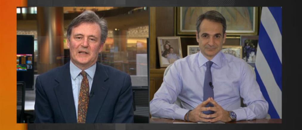Μητσοτάκης στο Bloomberg: Ελπίζω σε συμφωνία για το ευρωπαϊκό πιστοποιητικό εμβολιασμού