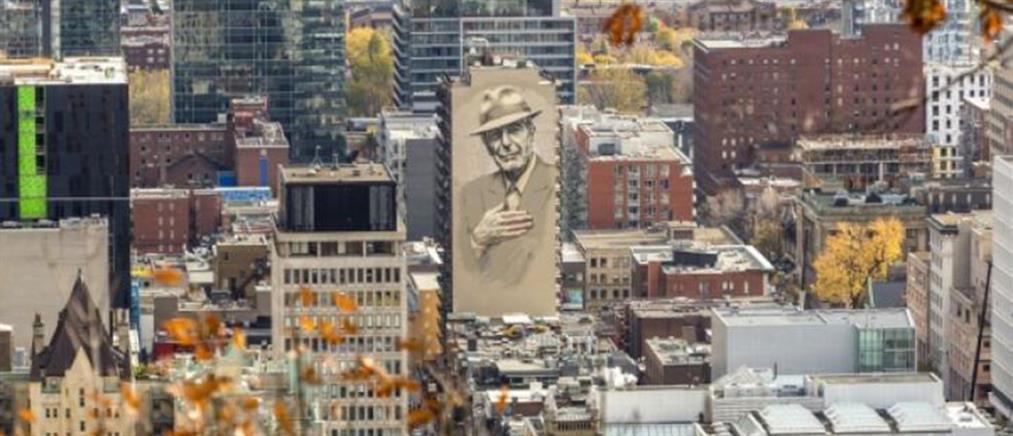 Τοιχογραφία - πορτρέτο του Λέοναρντ Κόεν στο Μόντρεαλ