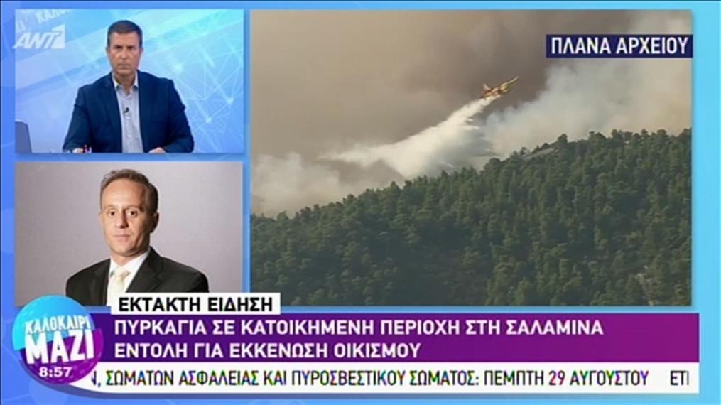 Πυρκαγιά στη Σαλαμίνα