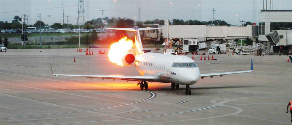 Φωτιά σε αεροσκάφος στο αεροδρόμιο του Ηρακλείου