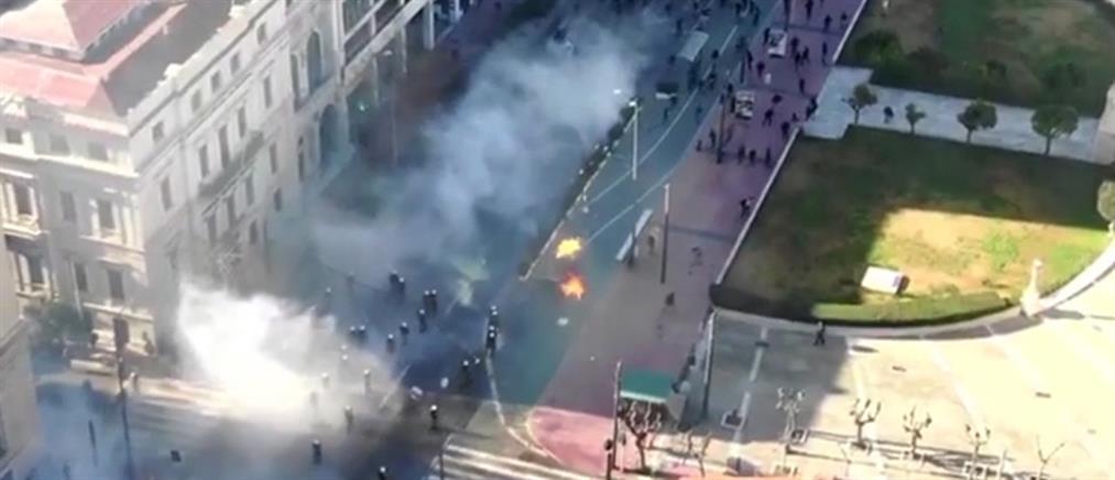 ΕΛΑΣ: Βίντεο από drone για τα επεισόδια στο συλλαλητήριο για τα ΑΕΙ