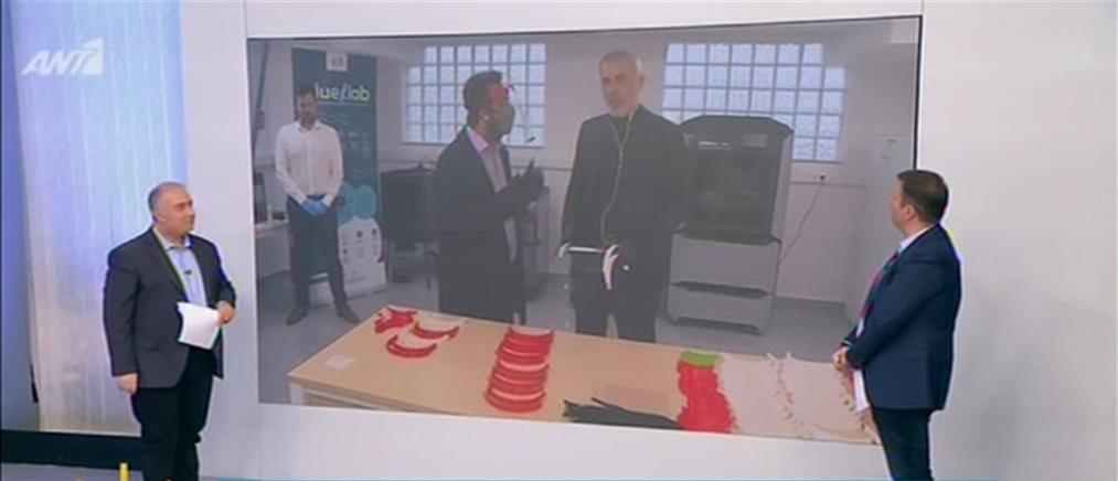 Μώραλης στον ΑΝΤ1: Ο Δήμος Πειραιά εκτυπώνει και δωρίζει 3D ασπίδες προστασίας σε νοσοκομεία (βίντεο)